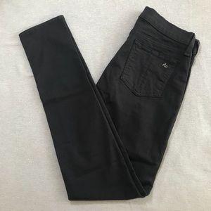 Rag & Bone Skinny Jeans Charcoal Gray 27 x 30